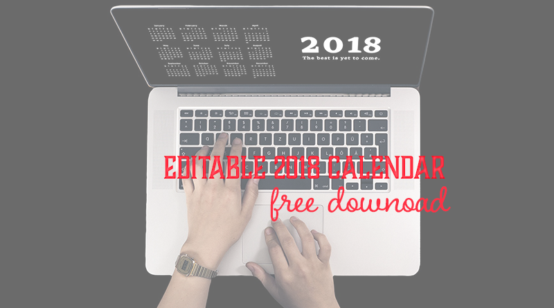 2018 Download Calendar